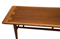 Lane Mid-Century Dovetail Coffee Table | Chairish