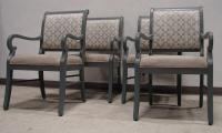 Gray Painted & Upholstered Antique Chairs - 4 | Chairish