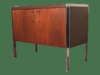 Mid-Century Modern Liquor Cabinet Bar Console | Chairish