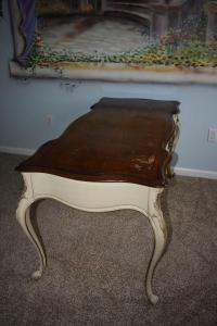 Vintage White Fine Furniture Co Ivory Desk | Chairish