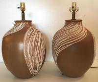 Mid-Century Ceramic Table Lamps - Pair | Chairish