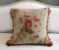 Lovely Antique Aubusson Pillow | DECASO