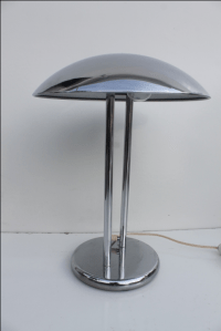 Modern Chrome Mushroom Table Lamp | Chairish