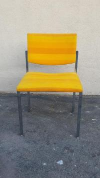 Steelcase Yellow Mid-Century Style Arm Chair | Chairish