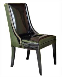 1960's Vintage Black Patent Leather Wingback Chairs With ...
