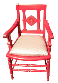 Victorian Eastlake Accent Chair Coral | Chairish