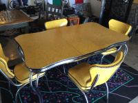 Vintage Chrome Kitchen Dining Set | Chairish