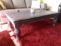 Distressed Blue Shabby Chic Coffee Table | Chairish