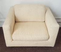 Mid-Century Dunbar Club Chair with Walnut Plinth | Chairish