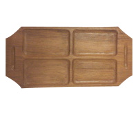Danish Modern Teak Wood Serving Tray | Chairish