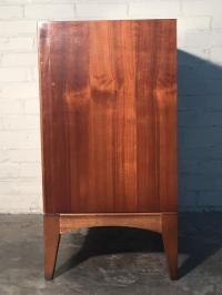Lane Mid-Century Modern Walnut Record Cabinet | Chairish