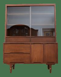 Vintage Stanley Mid Century Modern Hutch China Cabinet ...