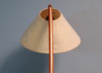 Vintage Danish Modern Teak Bowed Floor Lamp | Chairish