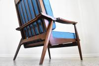 Refinished Mid Century Highback Lounge Chair | Chairish