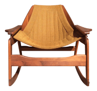 Mid-Century Sculptural Rocking Chair by Jerry Johnson ...