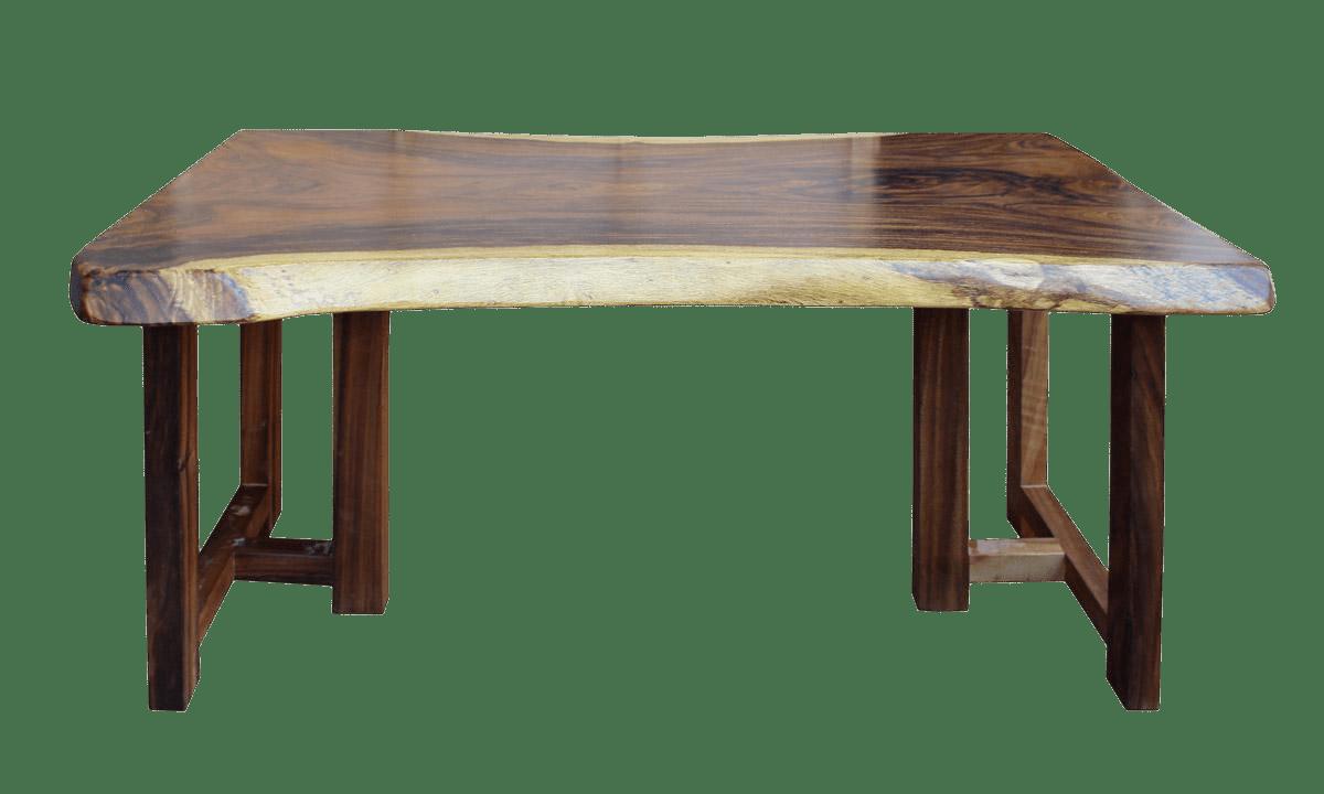 Raw Wood Rectangular Plank Table  Desk  Chairish