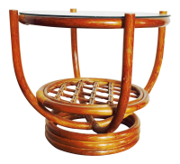 Vintage Rattan Bentwood Coffee Table   Chairish