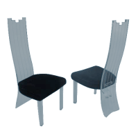 Vintage High Back Lucite Dining Chairs - A Pair | Chairish