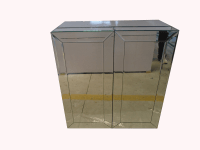 Mirrored Wine Bar Cabinet | Chairish