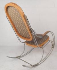 Thonet Style Mid-Century Modern Rocking Chair | Chairish