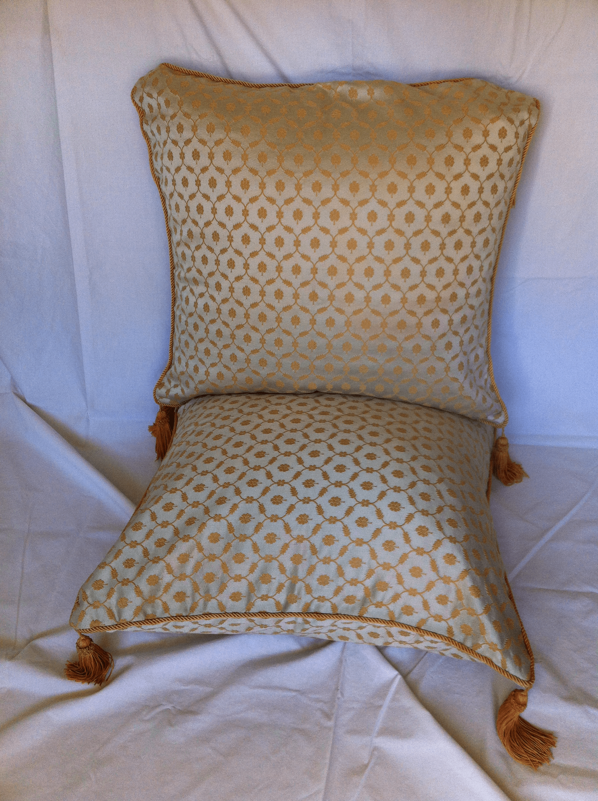 Vintage Sage and Gold Accent Pillow  A Pair  Chairish