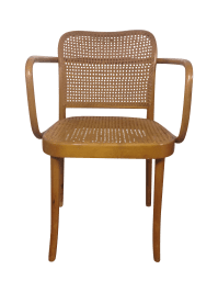 Thonet Mid-Century Bentwood and Cane Armchair | Chairish
