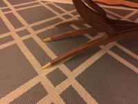 Mid-Century Brass and Wood Spider Leg Table   Chairish