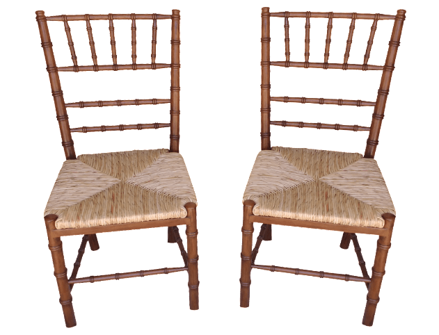 Ballard Designs Dining Chairs  A Pair  Chairish
