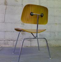 Herman Miller Mid Century Modern EAMES DCM CHAIRS | Chairish