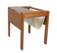 Danish Modern Teak Side Table With Magazine Rack | Chairish
