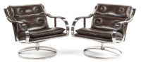 Mid Century Club Chairs, Knoll Style - Pair | Chairish