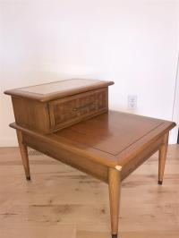 Mid-Century Two Tier Wood End Tables - A Pair | Chairish