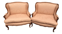 French Louis XV Marquis Bergre Chairs - A Pair | Chairish