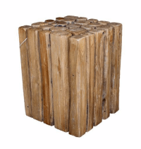 Wood Branch Cube Side Table | Chairish