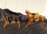 Sculptural Mid-Century Claw Chairs - A Pair | Chairish