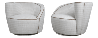 Midcentury Vladimir Kagan Swivel Chairs - A Pair | Chairish