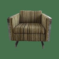 Patrician Furniture Co. Chrome Frame Lounge Chair | Chairish