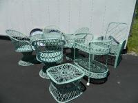 Mid-Century Spun Fiberglass Reclining Chair & Ottoman ...