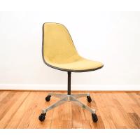 Vintage Eames Herman Miller Fiberglass Shell Chair | Chairish