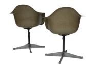 Charles Eames Bucket Swivel Chair - Pair | Chairish