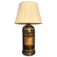 Vintage English Tea Canister Lamp   Chairish