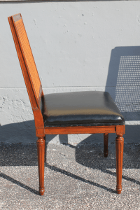 Mid-Century Baker Caned Dining Chairs - Set of 4 | Chairish