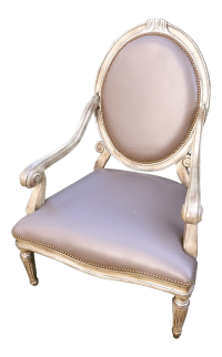 "Old Hickory Tannery Round ""Louis"" Chair"