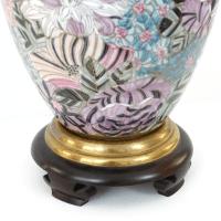 Vintage Frederick Cooper Japanese Porcelain Lamp | Chairish