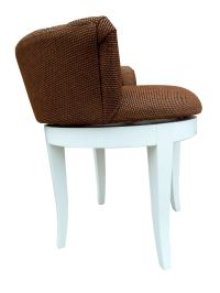 Hollywood Regency Vanity Chair in Gold & Brown | Chairish