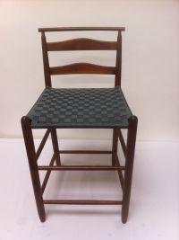 Mid-Century Modern Wood Bar Height Chair | Chairish