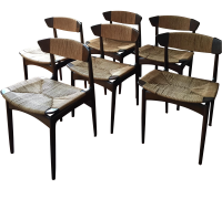 Mid Century Modern Dining Chairs by Selig - 6 | Chairish