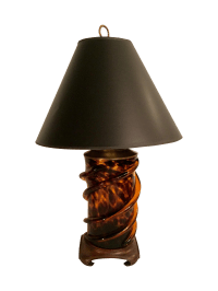 Glass Tortoise Shell Lamp | Chairish