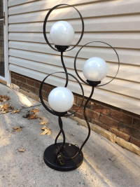 Mid Century Modern Space Age 3 Orb Table Lamp | Chairish