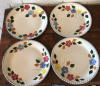 Vintage Hand Painted Dinner Plates - Set of 4 | Chairish